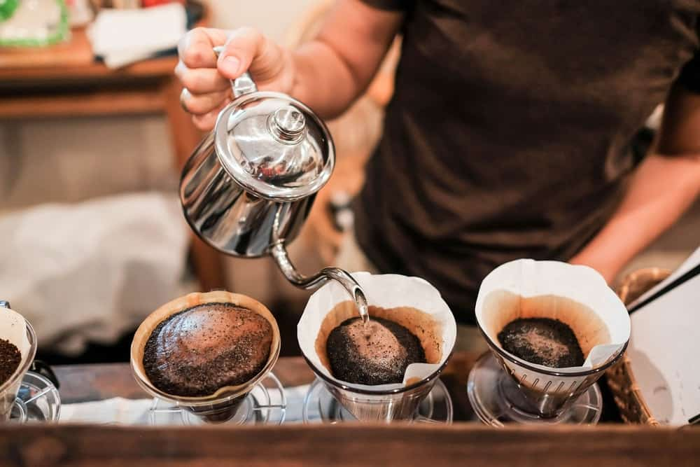The pour-over method to make coffee