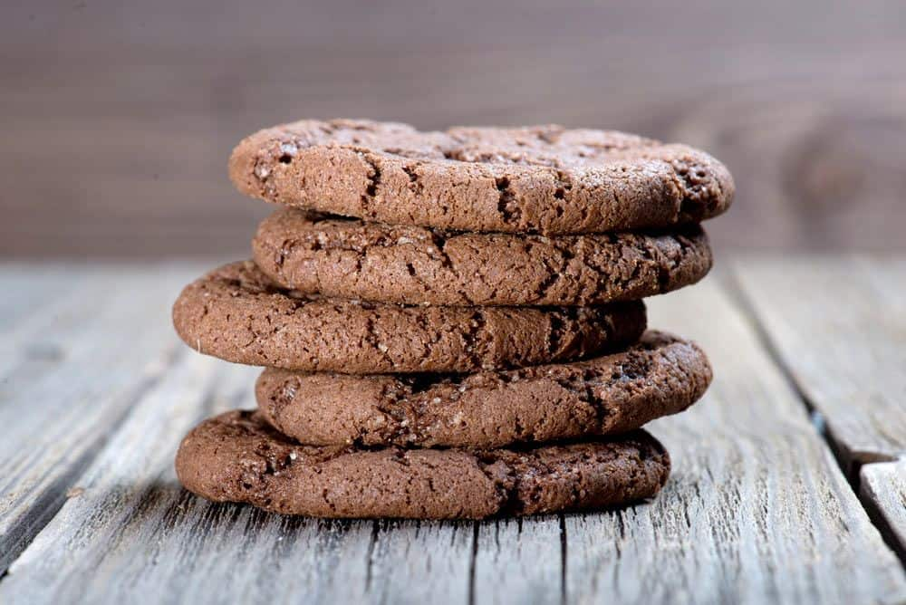 flourless double chocolate cake in a cookie